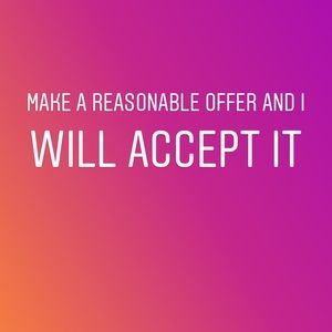 Other - Reasonable offer accepted